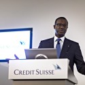Credit Suisse Group AG Chief Executive Officer Tidjane Thiam Interview And Full Year Results News Conference