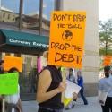 A  rally across the street from the U.S. Treasury.
